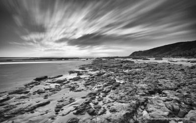 Zonsopkomst aan het strand van Cap Gris Nez, Opaalkust, Frankrijk, 4-5-2015