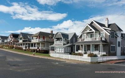 Straat in Oak Bluffs Martha's Vineyard MA, USA, 13-10-2015