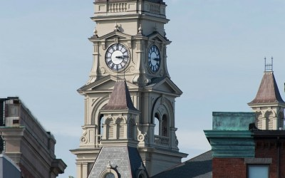 Toren van de City Hall, Gloucester MA, USA, 28-9-2015