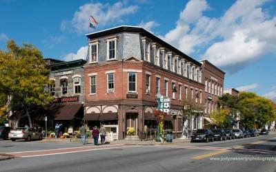 Winkelstraat in Woodstock VT, USA, 7-10-2015
