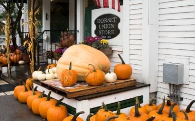 Pompoenen te koop, Dorset VT, USA, 9-10-2015