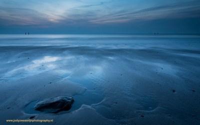 Zonsondergang aan het strand van Westkapelle, 27-2-2016