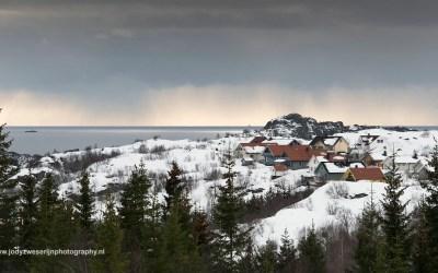 Wandelen tussen Kabelvag en Svolvaer, Noorwegen, 7-3-2016