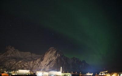 Noorderlicht, Svolvaer, Lofoten, Noorwegen, 9-3-2016