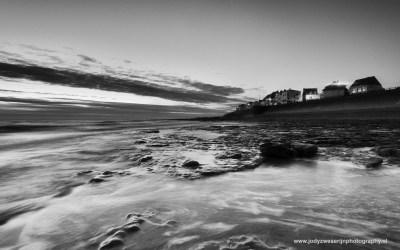 Zonsondergang op het strand van Ambleteuse, Opaalkust, Frankrijk, 1-5-2016