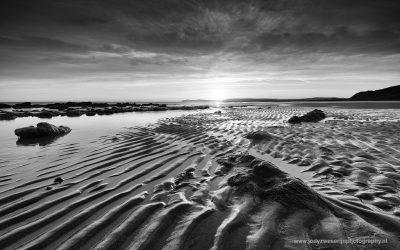Zonsopkomst aan het strand van Cap Gris Nez, Opaalkust, Frankrijk, 7-5-2016
