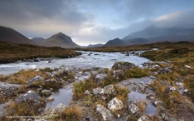 Sligachan Rivier, Sligachan, Isle of Skye, Schotland, 18-10-2016