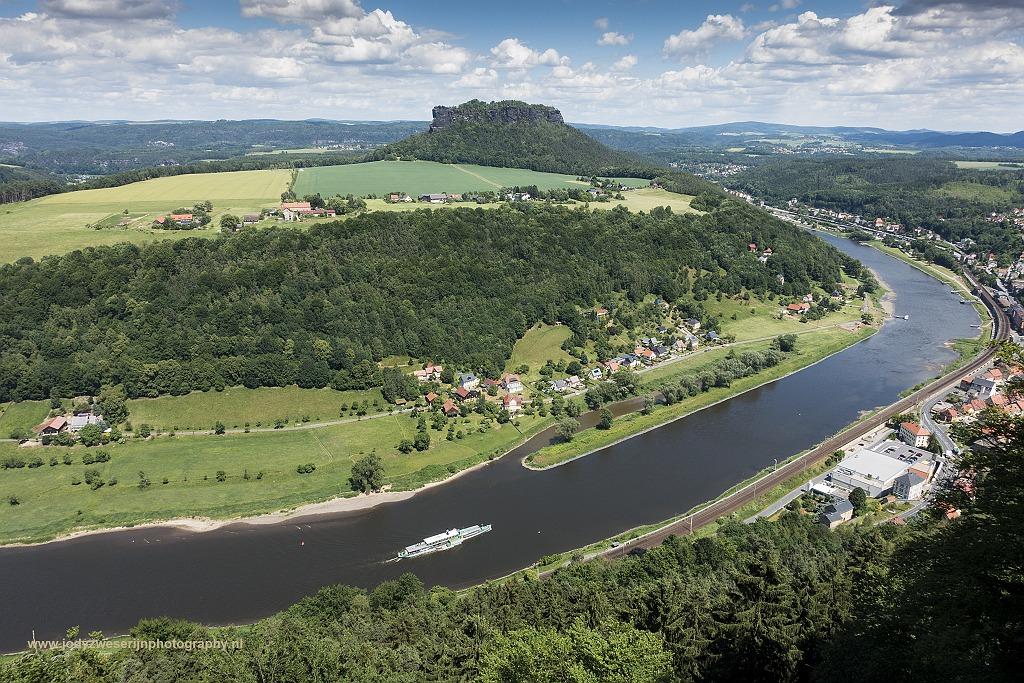 Uitzicht vanaf Festung Königstein, Sächsische Schweiz, Duitsland, 7-6-2017