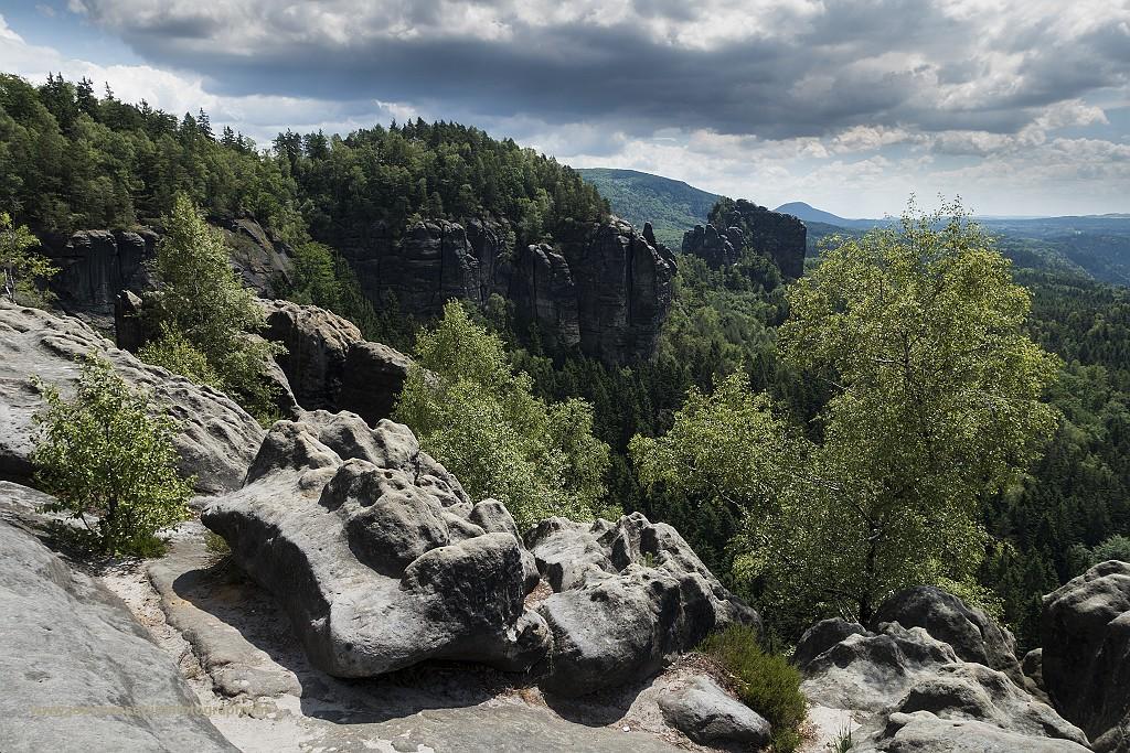"""Uitzichtpunt """"Breinte kluft"""", Sächsische Schweiz, Duitsland, 8-6-2017"""
