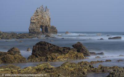 Een bijzondere rotsvorm, Playa Portizuelo, Asturië, Spanje, 18-5-2018