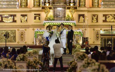 Trouwerij in St Joseph's Cathedral, Tagbilaran, Bohol, Filipijnen, 8-11-2017