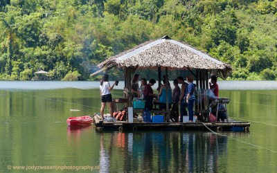 Familieuitje op Lake Danao, Ormoc, Leyte, Filipijnen, 10-11-2017