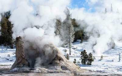 Near Old Faithful, Yellowstone, USA, 28-1-2019