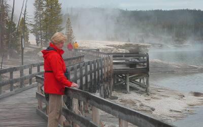 Vulkanische activiteiten in Yellowstone, 2005