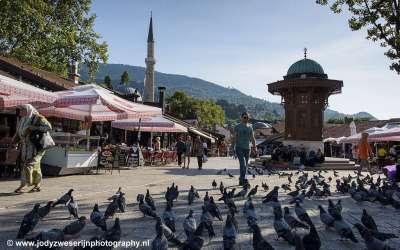 Serajevo markt, Bosnië, september 2019