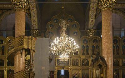 Geboortekathedraal van de Moeder Gods, Servisch Orthodox, Serajevo, Bosnië, september 2019