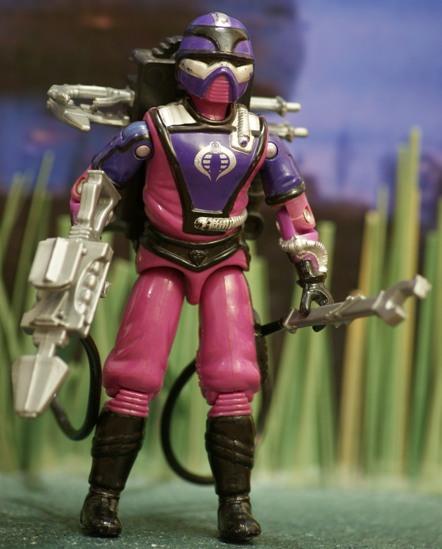 1987 G.I Joe Cobra Techno-Viper Figure Backpack Accessory