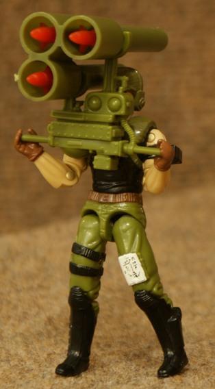 GI Joe Weapon Backblast Big Black Gun 1993 Original Figure Accessory