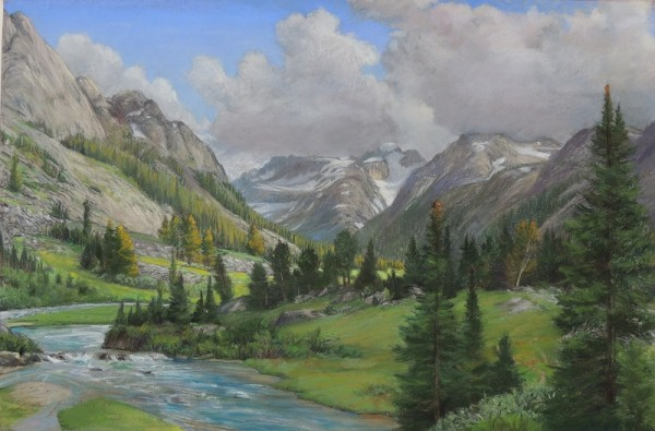 This is a trip I took into Dinwoody Creek with one of the most stunning views of Gannett. You are looking at the Gooseneck Glacier with views of the moraine and Horse Ridge towering above the meadow.