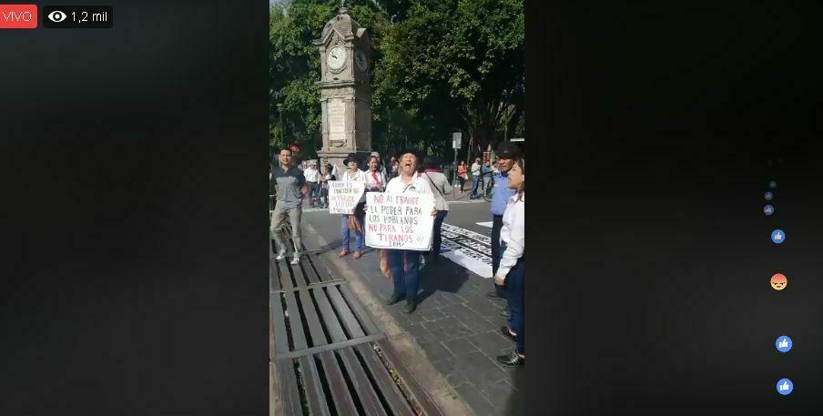 La megamarcha en Puebla contra el fraude de los Moreno Valle (vídeos)