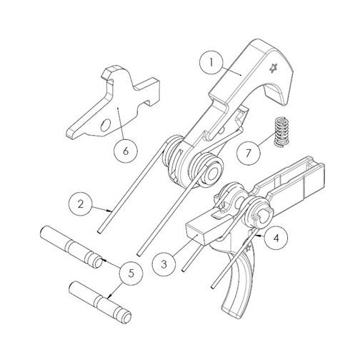 BCM AR15 PNT (Polished Nickel Teflon) Trigger Assembly