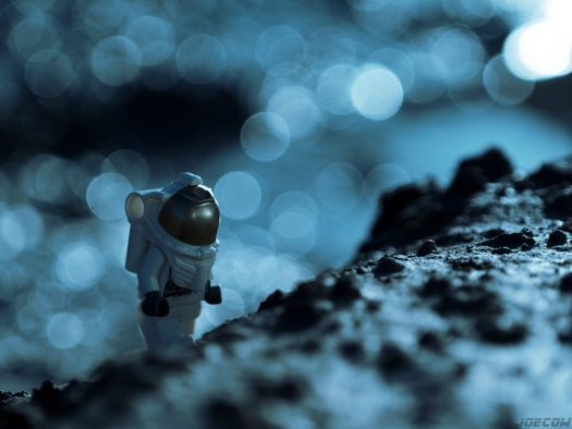 Lego Astronaut visits Exoplanet surface