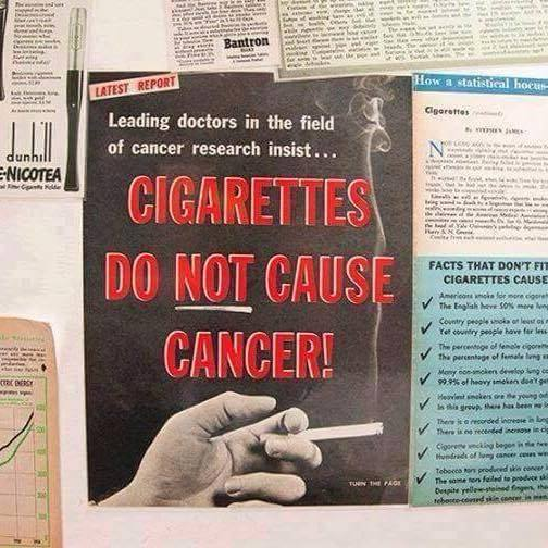 cigarrettes do not cause cancer myth