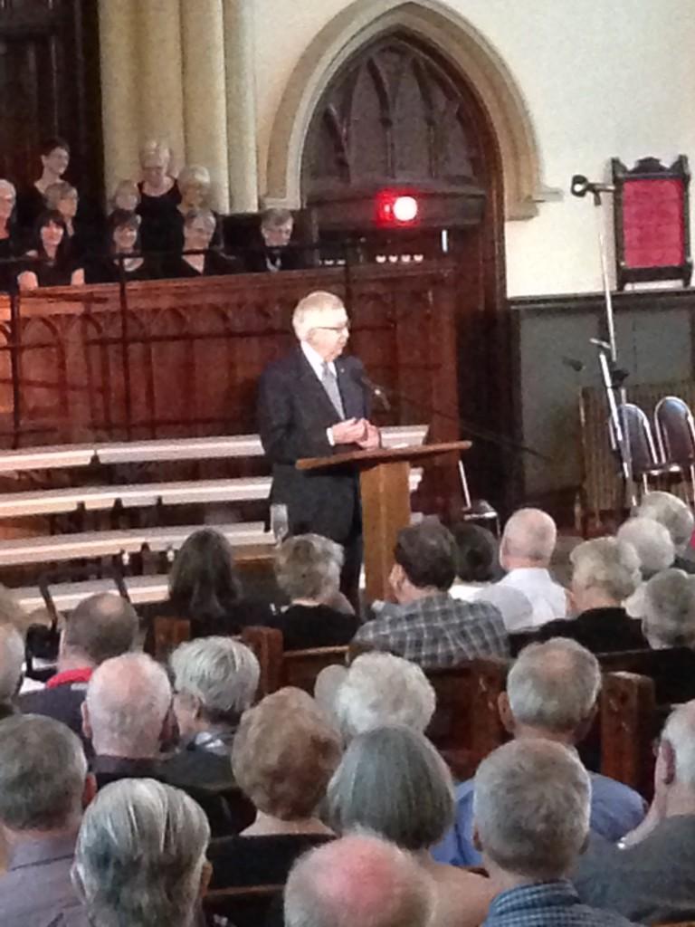 Hon. Joe Clark, guest speaker at MCC event.