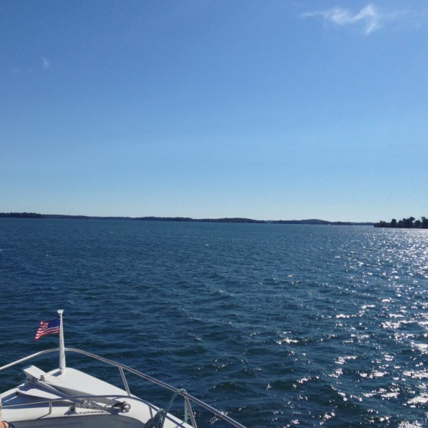 Cruising the mighty St. Lawrence River
