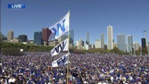 Cubs 2017 World Series parade.