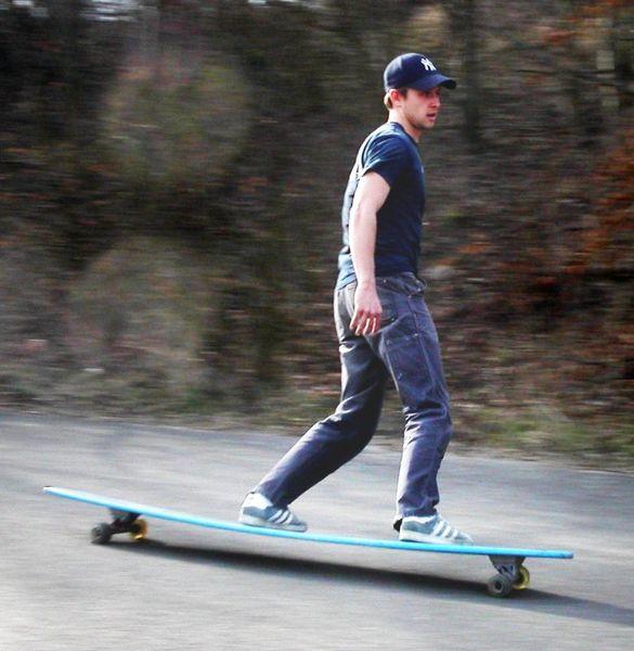 a longboard