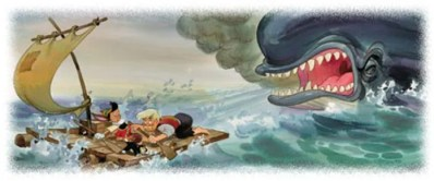 Pinocchio and Whale