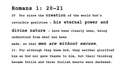 Romans 1-21