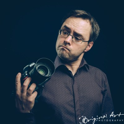 Personal Branding - Joe Lenton with camera - comic profile pic