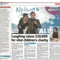 PR & Events Photography sample printed article in Evening News - Nelson's Journey Ball