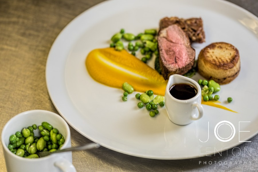 Food Photo Story - Duo of Lamb - plating the beans
