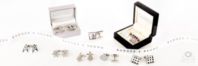 Cufflinks Photography - Product Photography for Badger & Brown - Advertising Banner-1