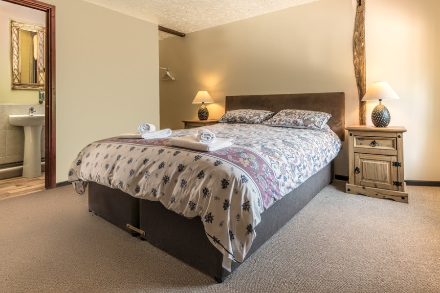 Showing the feel of a space - relationship between rooms bedroom with ensuite
