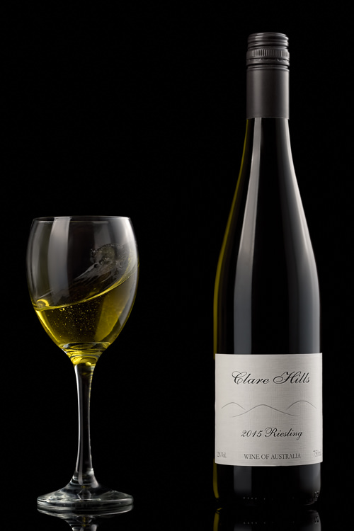Wine Photography - White Wine with splash-2