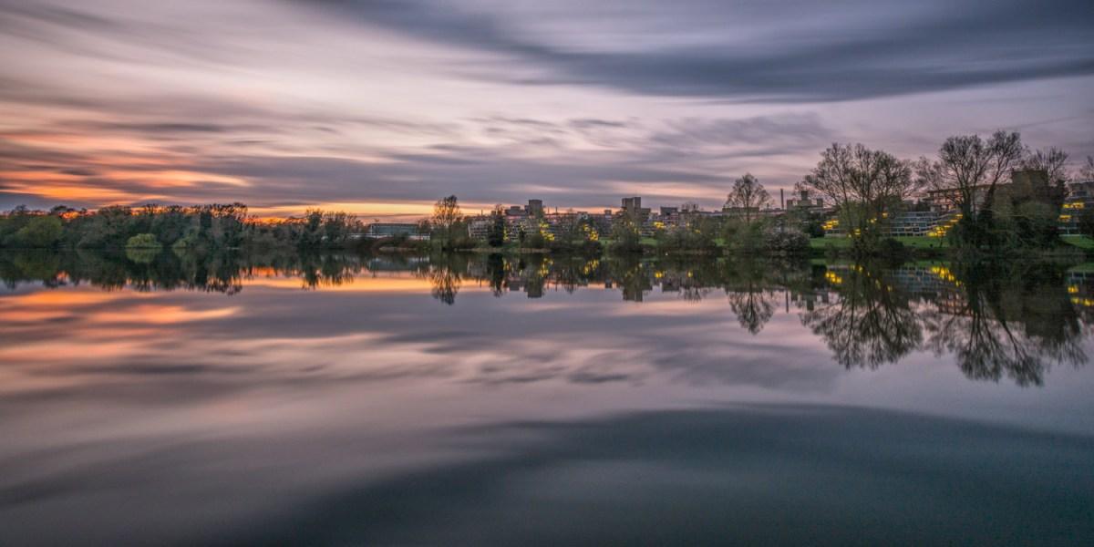 UEA Broad sunset long exposure
