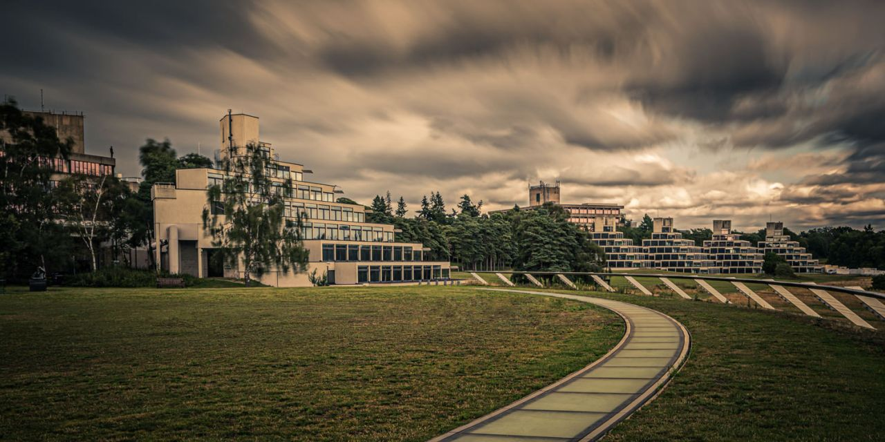 UEA Ziggurat long exposure with leading lines