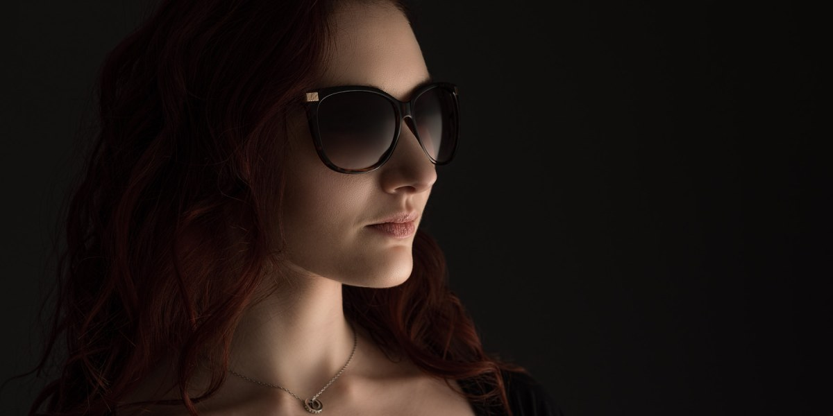 ashion photography - sunglasses and necklace