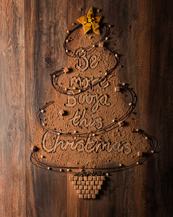 Booja-Booja Christmas Advert Chocolate Christmas Tree