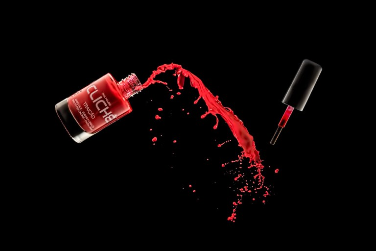 Red Nail varnish with splash