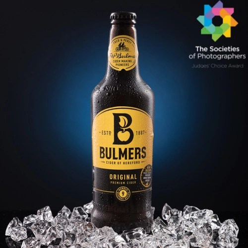 Award-Winning Commercial Photography by Joe Lenton - Bottle of Bulmers