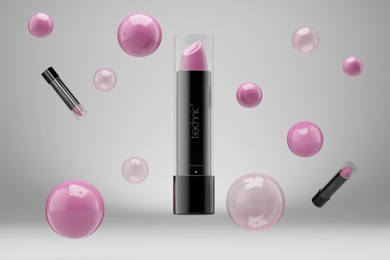 Technic Lipstick CGI product modelling with bubbles