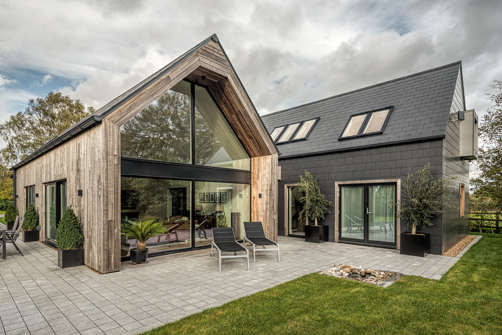 Contemporary Domestic Architecture - Photography for Heb Homes - rear aspect of The Duckeries