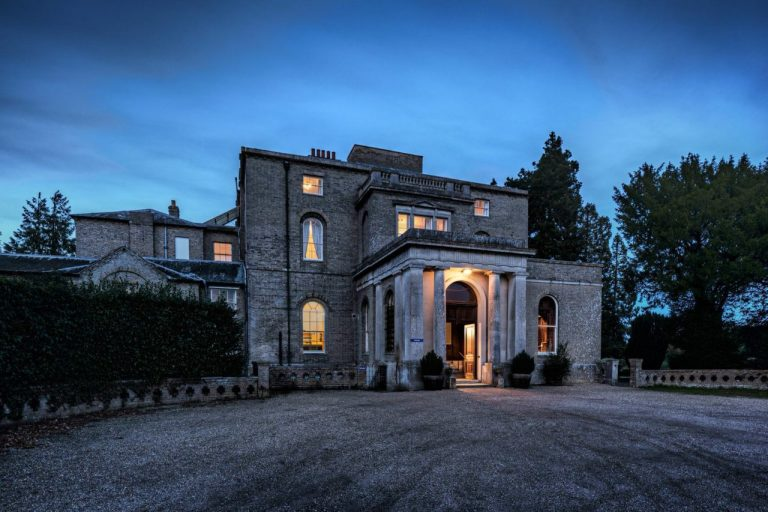 Architectural Photography Twilight Exterior image of Letton Hall
