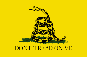 Gadsden Flag, by Lexicon, Vikrum - Own work, CC BY-SA 3.0, https://commons.wikimedia.org/w/index.php?curid=1440653