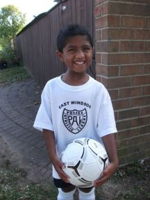 Joshua in his soccer gear